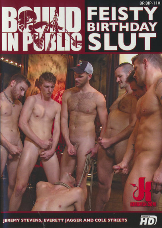Bound In Public - Feisty Birthday Slut Gay DVD image